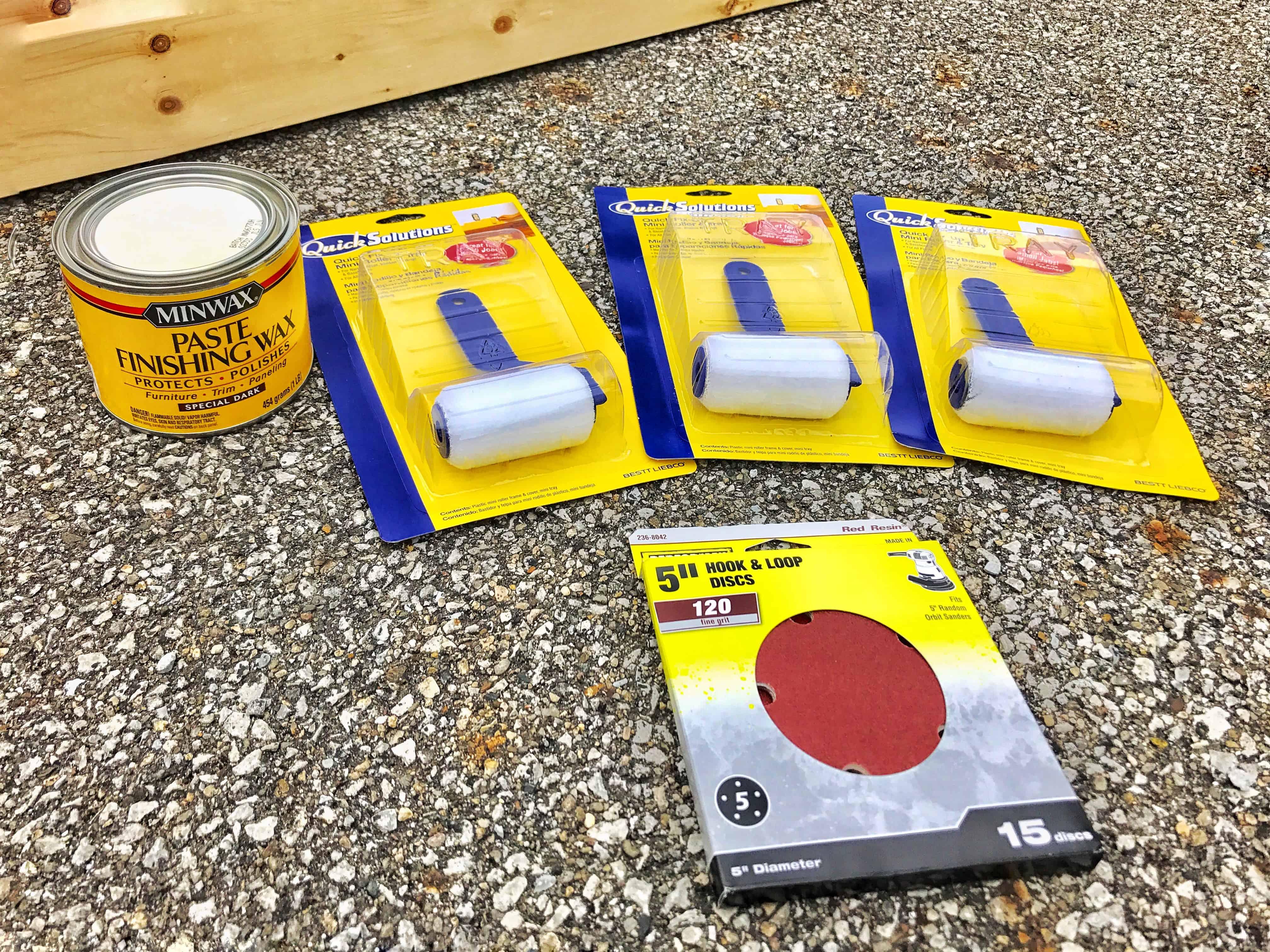supplies for a jumbo Jenga set