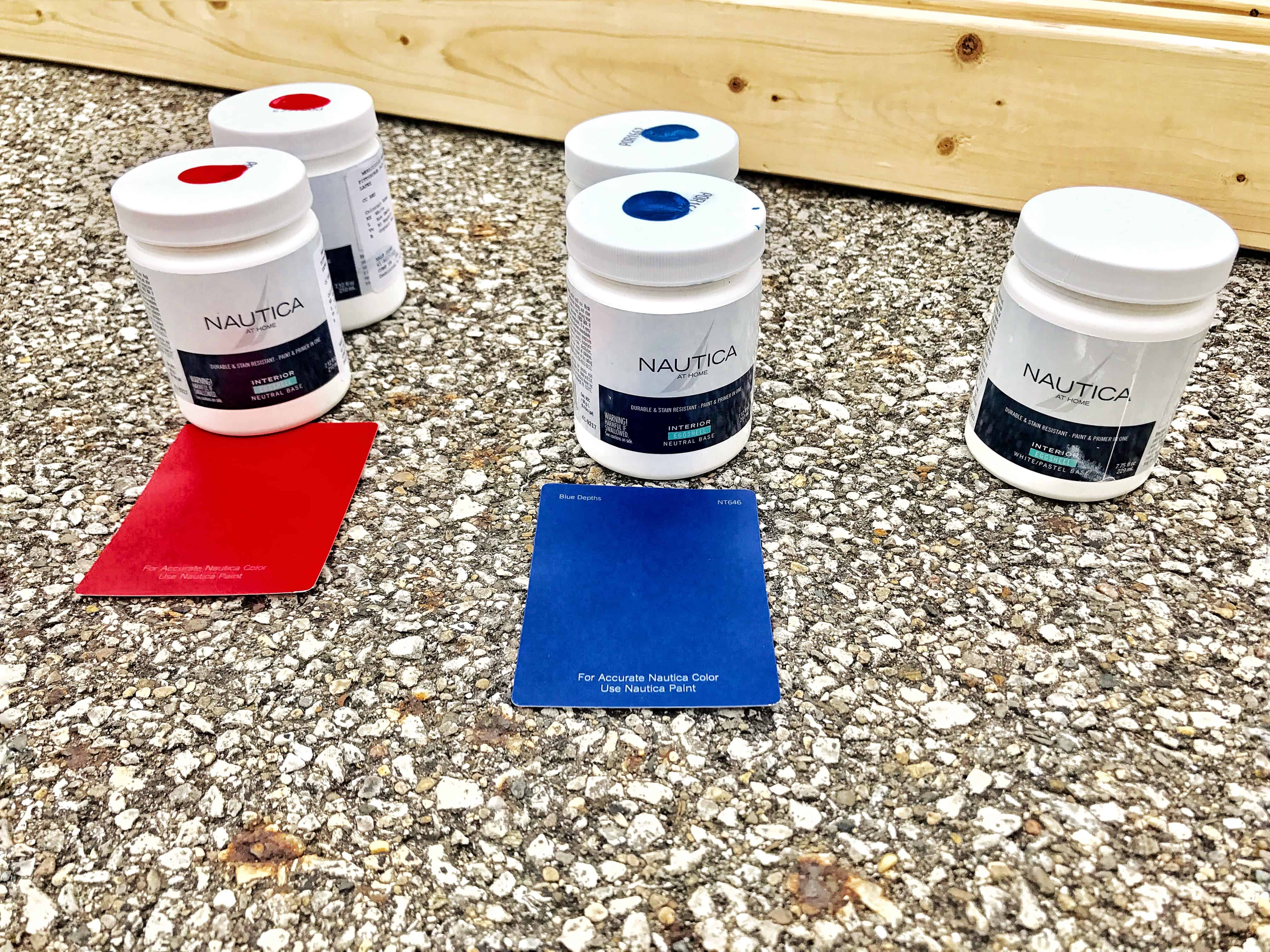 paint samples for an outside jenga game
