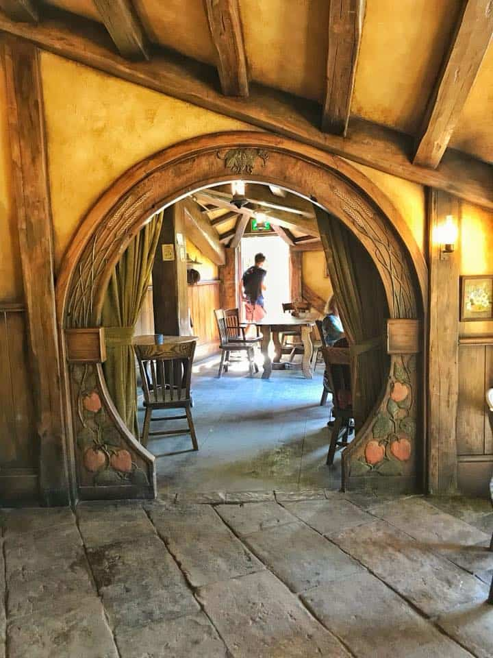 An arched doorway inside The Green Dragon Inn