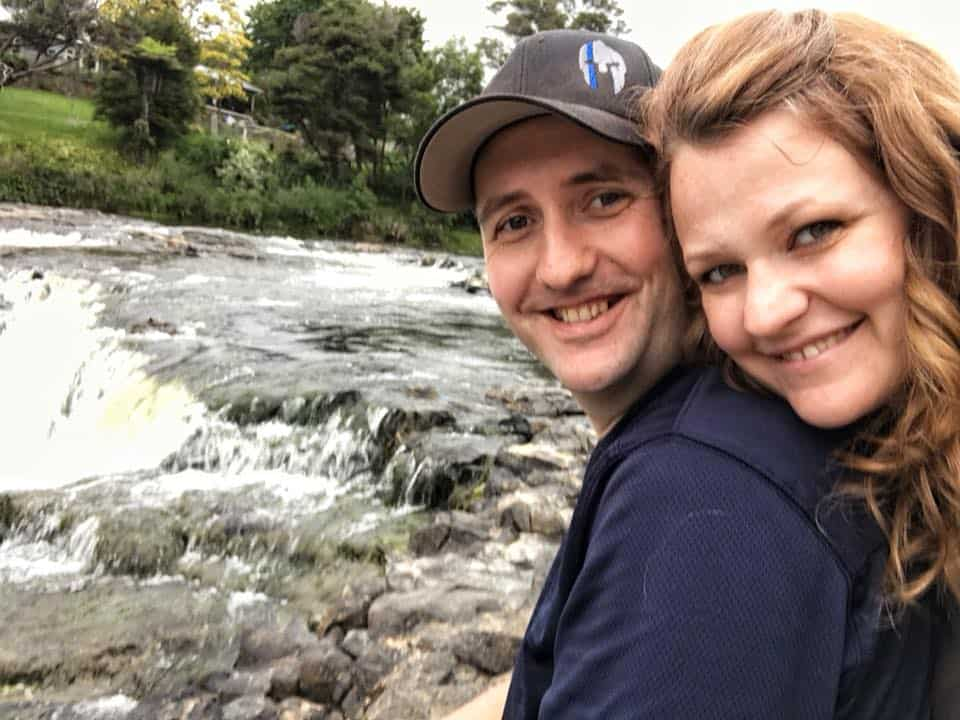 my husband and I enjoying time away in New Zealand