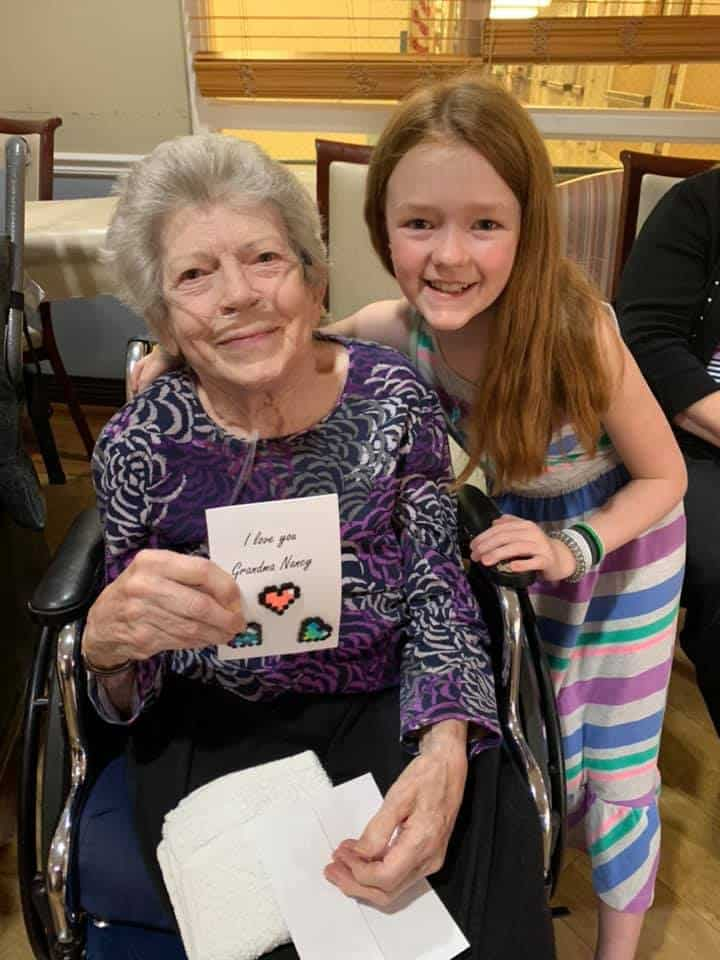 my daughter and a nursing home resident she adopted
