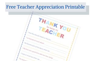 teacher printable