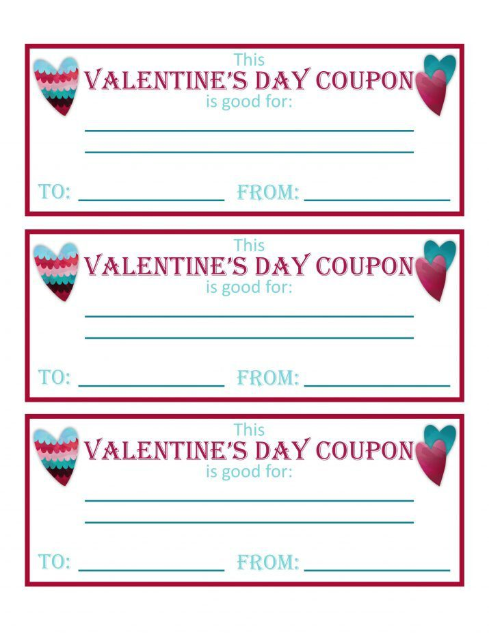 free printable coupons for Valentine's Day