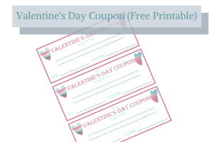 V day coupon template