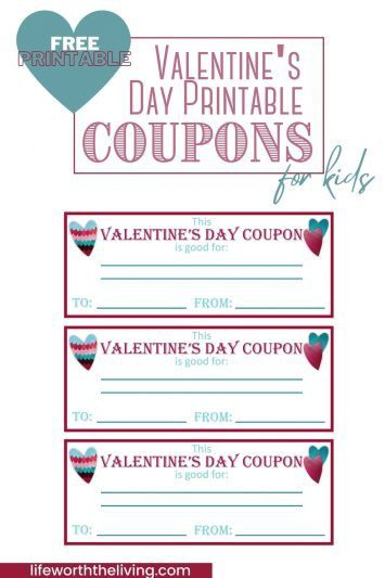 Valentine day coupon template pinterest pin