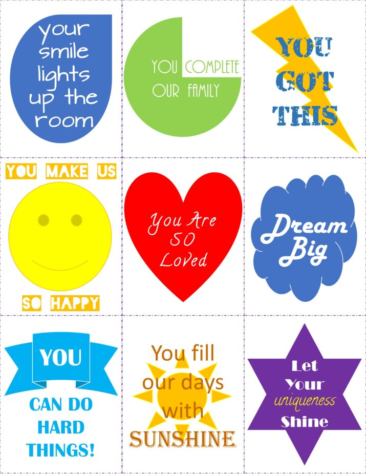 printable lunch notes for kids