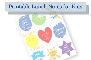 free printable lunch notes for kids